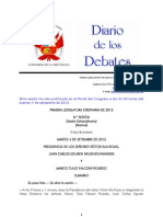 Debate Congreso. Premier y Ministro de Economía 040912