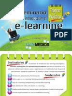 Folleto Presentación Seminario Teórico y Práctico de Introducción al e-Learning