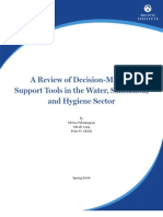 A Review of Decision-Making Support Tools in the Water, Sanitation, and Hygiene Sector