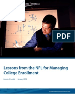 Lessons from the NFL for Managing College Enrollment