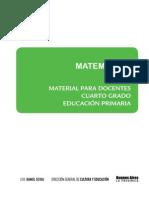 Material Para El Docente. Matemática. Cuarto Grado