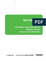 Material Para El Docente. Matemática. Primer Grado