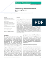 Coagulation Considerations for Infants and Children 2012