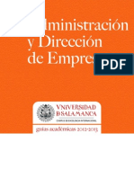 Grado en Administracion y Direccion de Empresas 2012-2013