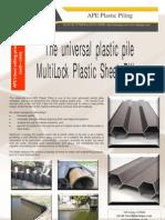 VSP - Multilock Plastic Sheet Piling (Miniape, July 2009)