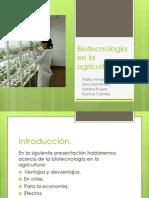Biotecnología en la agricultura MM
