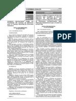 Publicacion del proyecto de d.s. que modifica el decreto supremo n°047-2001-mtc