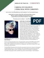 Christie's Warhol News Final for Distribution 9-5-12