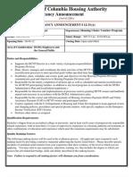 DCHA Job Vacancy