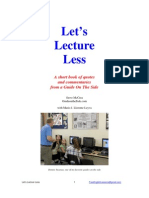 PDF Let's Lecture Less 2012 Edition in Color 78 Pages with references to Kirschner, Sweller, and Barak Rosenshine