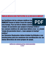 FAMILIA MÉDICA DEBE PARTICIPAR EN LA HUELGA INDEFINIDA