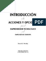 INTRODUCCIÓN a las ACCIONES Y OPCIONES para el EMPRENDEDOR TECNOLÓGICO y el EMPLEADO DE STARTUPS