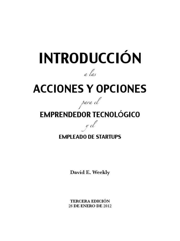INTRODUCCIÓN a las ACCIONES Y OPCIONES para el EMPRENDEDOR ...