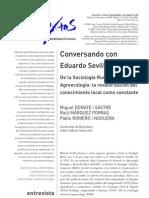 Conversando con Eduardo Sevilla Guzmán