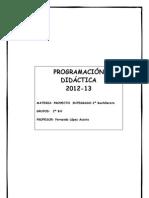 Programación del Proyecto Integrado para 2º de Bachillerato de Humanidades y Ciencias Sociales