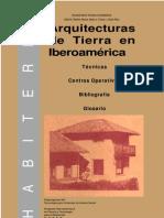 Arquitecturas de Tierra en Iberoamérica Técnicas, Cent ros Operat ivos, Bibliografía, Glosario