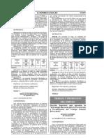 D.S. 015-2012-TR Aprueban La Estrategia Nacional Para La Prevencion y Erradicacion Del Trabajo Infantil