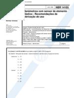 Nbr 14105 - Manometros Com Sensor de Elemento Elastico - Recomendacoes de Fabricacao e Uso