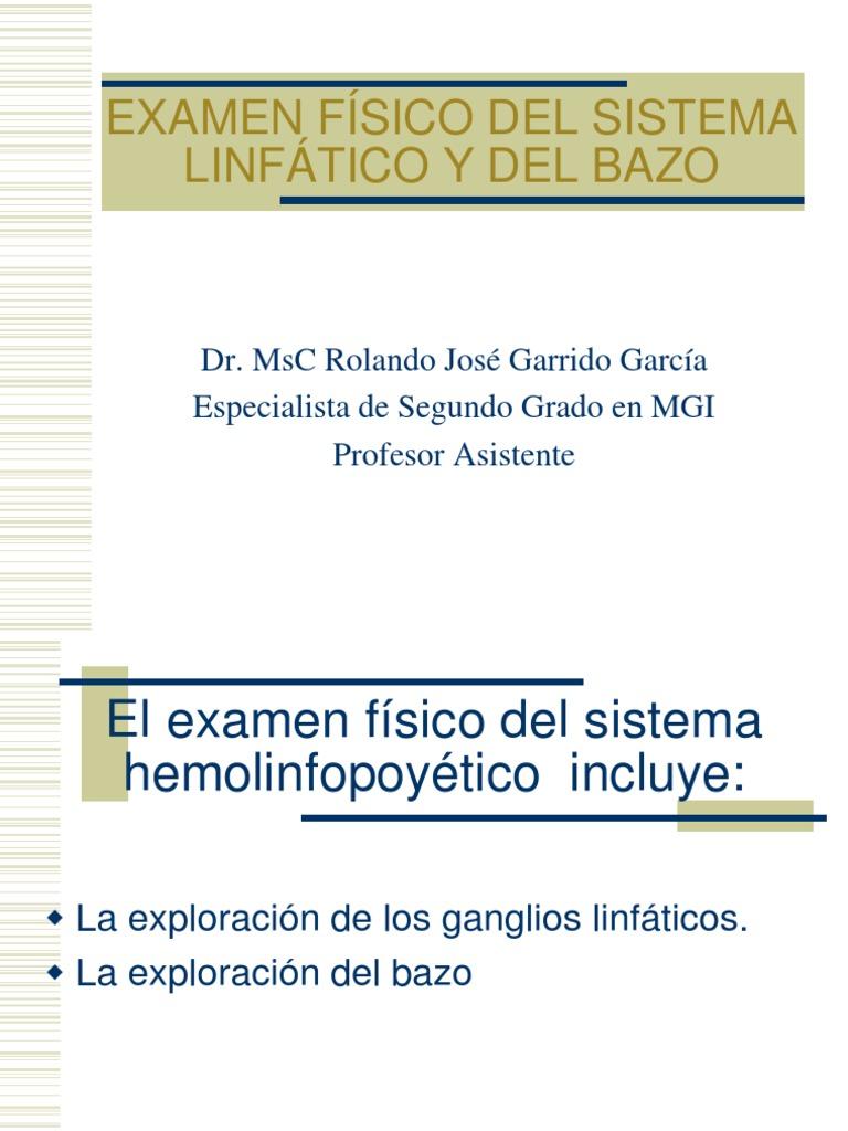 Examen Fisico Del Sistema Linfatico