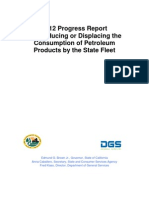 2012 Progress Report For Reducing or Displacing the Consumption of Petroleum Products by the State Fleet