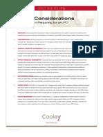 2012 IPO Considerations
