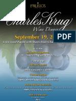 Charles Krug Wind Dinner 09/19/2012