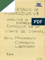 Analisis de empresa - Formación Comite de control 1976