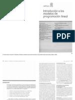 Capítulo 2 Introducción a los modelos de programación lineal, Davis