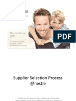 Supplier Selection Process @Nestle