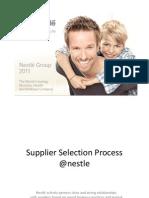Supplier Selection Process @Nestle