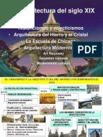 Arq s. Xix , Historicisimos Hierro y Cristal, Chicago,Modernismos