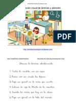 Desarrollo de La Atencion Discriminacion Visual Con Laminas 2 Colegio