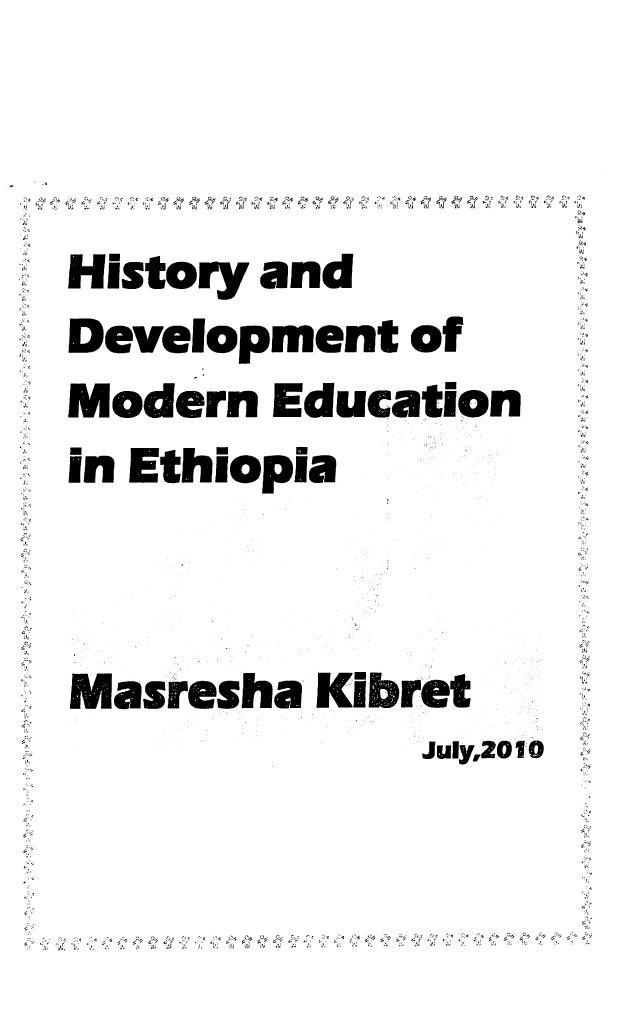 History of Ethiopian Education