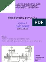 Projektiranje zgrada vježbe 04 2012 tlocrt temelja