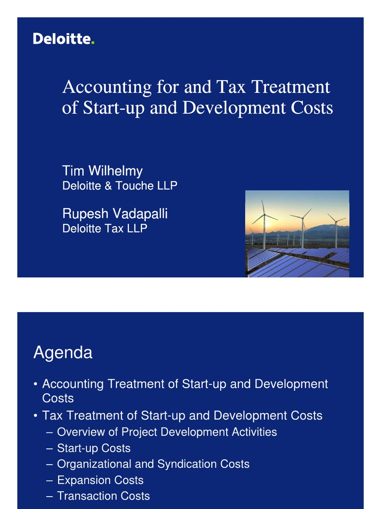 Start-Up Costs_Accounting for and Tax Treatment_100610 ...