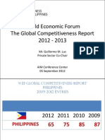 National Competitiveness Council Presentation on the WEF Global Competitiveness Report 2012-2013