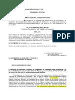 Acuerdo canje de notas Operación Martillo