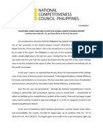 National Competitiveness Council Statement on the WEF Global Competitiveness Report 2012-2013
