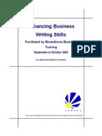 Enhancing Business Writing Skills Handbook Aug 2009 V5