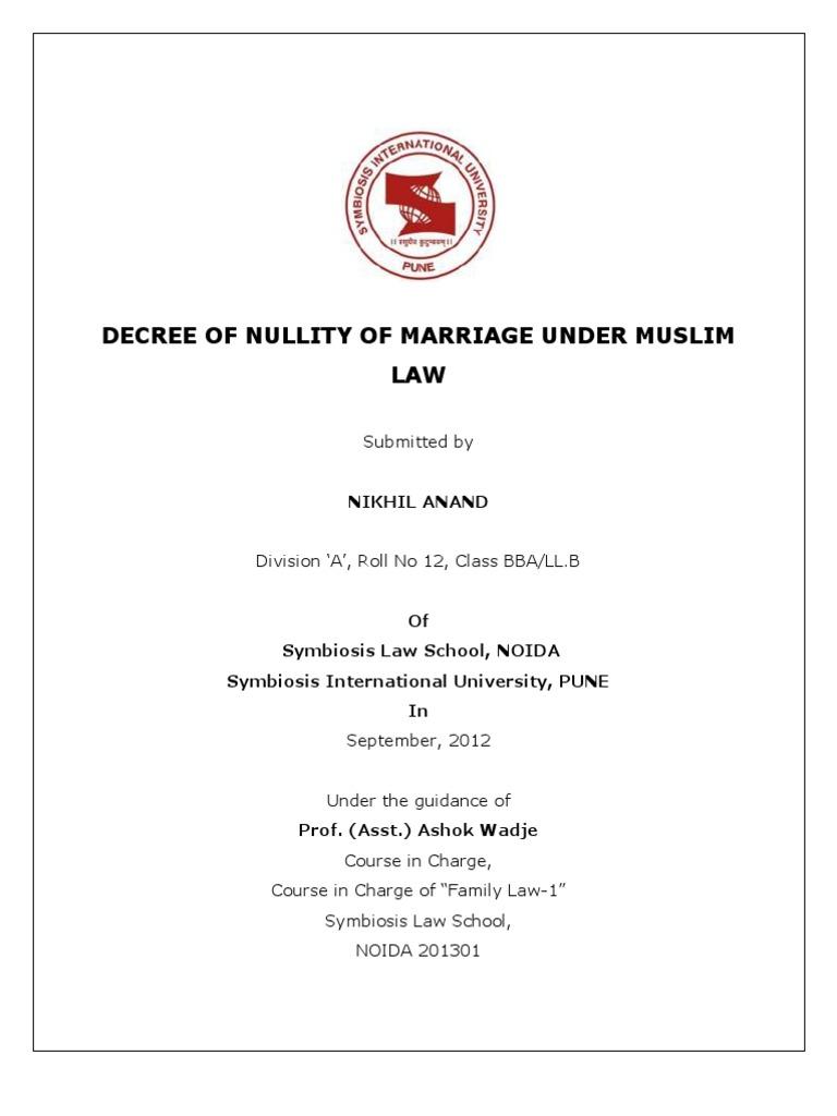 Decree of annulment
