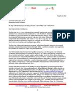 TheNewIran-letter2Congressman-RohrbacherAugust - 2012