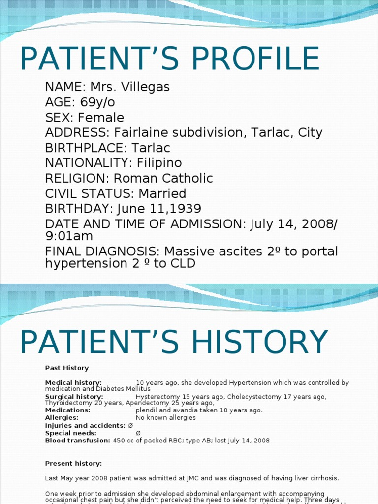 patient history template