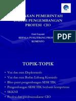 Kebijakan Pemerintah Dlm Pengembangan Profesi CIO