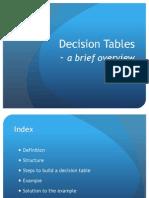 6 Decision Tables