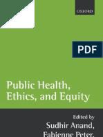 Amartya Sen Public Health Ethics and Equity