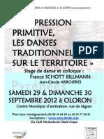 """Stage """"Expression primitive, les danses traditionnelles sur le territoire"""""""