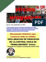 Noticias Uruguayas Jueves 6 de Setiembre Del 2012