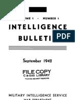 Intelligence Bulletin ~ Sep 1942