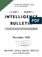 Intelligence Bulletin ~ Nov 1942