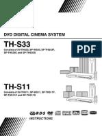 Th-s11, Th-ss3 Dvd Jvc Manual